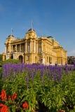 Kroatisches Nationaltheater in Zagreb Lizenzfreie Stockfotos