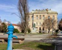 Kroatisk akademi av vetenskaper och konst i Zagreb, Kroatien arkivfoton
