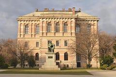 Kroatisk akademi av vetenskaper och konster, Zagreb, Kroatien royaltyfri bild
