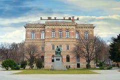 Kroatisk akademi av vetenskaper och konster, Zagreb, Kroatien arkivfoto