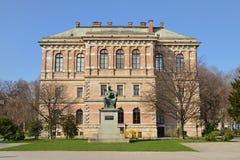 Kroatisk akademi av vetenskaper och konster, Zagreb, Kroatien royaltyfria foton