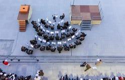 Kroatisk arméorkester på den militära pilgrimsfärden i Lourdes, Fran Royaltyfri Fotografi