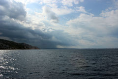 Kroatisk del av Adriatiskt havet Fotografering för Bildbyråer