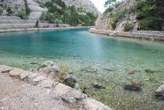 Kroatisk fjord Zavratnica Arkivfoto