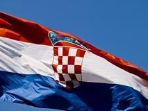 kroatisk flagga Arkivbild