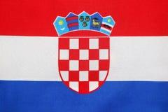 Kroatisk flagga Arkivfoto