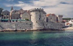 Kroatisk gammal stad Arkivbild
