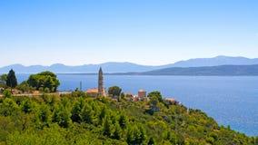 Kroatisk kust Arkivfoton