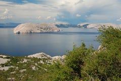 Kroatisk kustlinje Arkivfoton