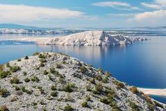 Kroatisk kustlinje Arkivfoto