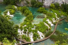 kroatisk lakesnationalparkplitvice Arkivbilder
