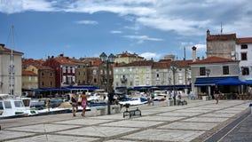Kroatisk marina Arkivfoto