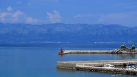 Kroatisk marina Arkivbild