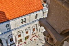 Kroatisk medeltida arkitektur Arkivbild