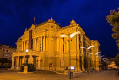 Kroatisk nationell teater Ivan Zajc i Rijeka Arkivbilder