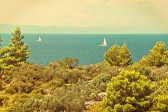 Kroatisk seascape fotografering för bildbyråer