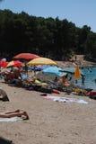 Kroatisk strand Arkivfoto