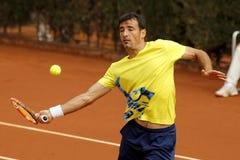 Kroatisk tennisspelare Ivan Dodig Fotografering för Bildbyråer