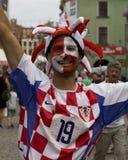 kroatisk ventilator euro2012 Fotografering för Bildbyråer
