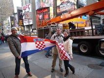 Kroatiska fotbollfans i New York Royaltyfri Bild
