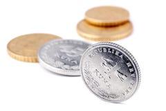 Kroatiska metallpengar Fotografering för Bildbyråer