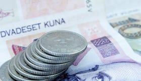 Kroatiska pengar 3 Arkivfoton
