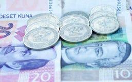 Kroatiska pengar 2 Arkivfoto
