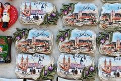Kroatiska souvenir Arkivfoto