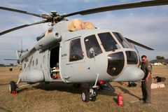 Kroatiskt flygvapen- och luftförsvar Mil Mi-171Sh transporterar helico Arkivfoto