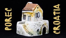 Kroatiskt hus, nationell arkitektur Royaltyfria Bilder