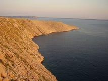 Kroatiskt kustOS-Adriatiskt hav Fotografering för Bildbyråer