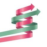 Kroczy papierowego paska szablon. Wektorowa opcja infographic. Zdjęcia Stock