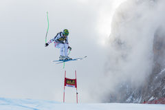KROELL Klaus (AUT). VAL GARDENA, ITALY - DECEMBER 21:  KROELL Klaus (AUT) races down the Saslong competing in the Audi FIS Alpine Skiing World Cup MEN'S DOWNHILL Royalty Free Stock Photos