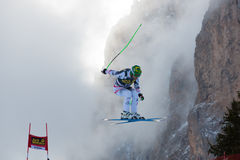 KROELL Klaus (AUT). VAL GARDENA, ITALY - DECEMBER 21:  KROELL Klaus (AUT) races down the Saslong competing in the Audi FIS Alpine Skiing World Cup MEN'S DOWNHILL Stock Photography