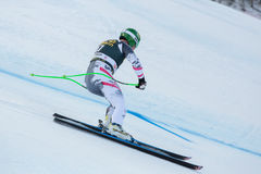 KROELL Klaus (AUT). VAL GARDENA, ITALY - DECEMBER 21:  KROELL Klaus (AUT) races down the Saslong competing in the Audi FIS Alpine Skiing World Cup MEN'S DOWNHILL Royalty Free Stock Photography