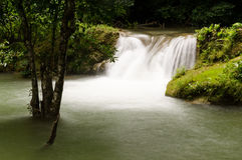 Kroeng Krawia waterfall Royalty Free Stock Photography