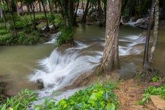 Kroeng Krawia Waterfall,Khao Laem National Park,Sangkhlaburi,Kanchanaburi,Thailand. Stock Photos