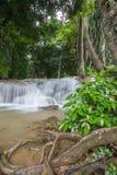 Kroeng Krawia Waterfall,Khao Laem National Park,Sangkhlaburi,Kanchanaburi,Thailand. Royalty Free Stock Photo