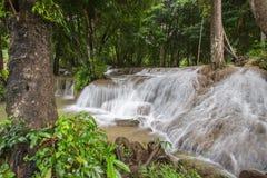 Kroeng Krawia Waterfall,Khao Laem National Park,Sangkhlaburi,Kanchanaburi,Thailand. Royalty Free Stock Photography