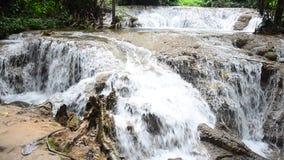 Kroeng Krawia Waterfall at Sangkhlaburi stock footage