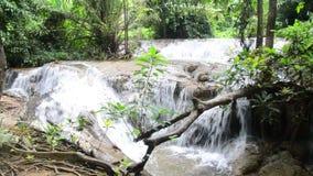 Kroeng Krawia Waterfall at Sangkhlaburi stock video footage