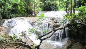 Kroeng Krawia Waterfall at Sangkhlaburi stock video