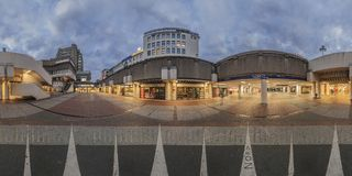 Kroepcke hole in Hannover. 360 Degree Panorama. Royalty Free Stock Photo