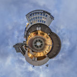 Kroepcke hole in Hannover. Little Planet Panorama. Stock Photo