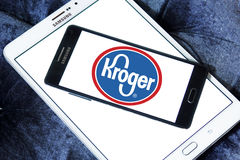 Kroger stores logo. Logo of the international chain of convenience stores kroger on samsung mobile phone a5 Stock Image