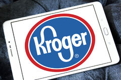 Kroger stores logo. Logo of kroger stores on samsung tablet Stock Image