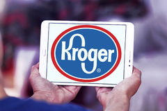 Kroger stores logo. Logo of kroger stores on samsung tablet Royalty Free Stock Image