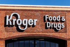 Noblesville - Circa March 2018: Kroger Supermarket. The Kroger Co. is One of the World`s Largest Grocery Retailers V. Kroger Supermarket. The Kroger Co. is One Stock Photo