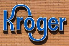 Indianapolis - Circa October 2017: Kroger Supermarket. The Kroger Co. is One of the World`s Largest Grocery Retailers V. Kroger Supermarket. The Kroger Co. is Stock Photo