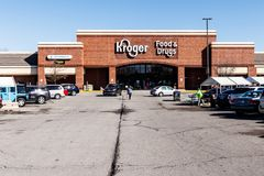Noblesville - Circa March 2018: Kroger Supermarket. The Kroger Co. is One of the World`s Largest Grocery Retailers V. Kroger Supermarket. The Kroger Co. is One Royalty Free Stock Images